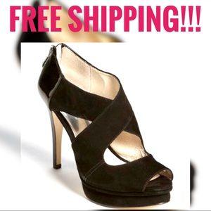 Michael Kors Ariel Platform Heels Black Sz 8
